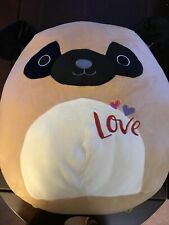 """Squishmallows PAM THE PUG DOG 16"""" NWT Toy Pillow"""