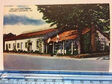 Postcard Linen First California Theatre Monterey, CA Vintage
