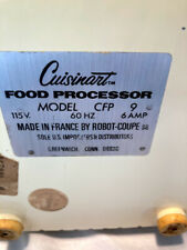 Vintage Cuisinart (Robot Coupe) Cfp 9 Food Processor - Clean Working Condition