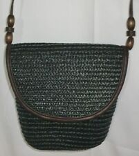 NWOT MAGID Black straw purse handbag