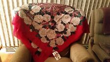 "NWT Challis By Berkshire Ladies Scarf  48"" Sq  Multi-colored Floral"