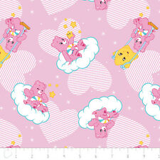 Care Bears Helpful Heart Bear Pink Camelot 100% cotton fabric by the yard