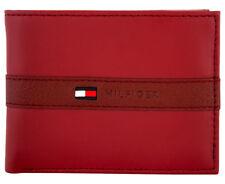 Tommy Hilfiger Ranger Passcase Billfold Wallet - Red