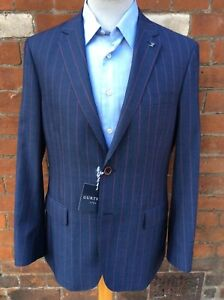 Gurteen burgundy striped blazer / Jacket, Many sizes. RRP £275 Our price £64.95