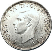 1943 Great Britain UK United Kingdom King George VI SILVER SHILLING Coin i73766