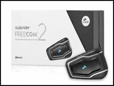 Cardo Scala Rider Freecom 2 Audio Motorcycle Bluetooth Intercom Headset Single