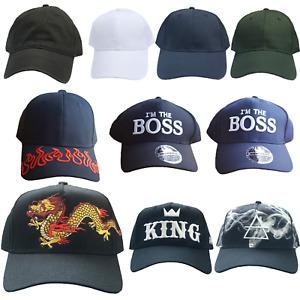 HAT BASEBALL GOLF CAP HIP HOP MEN FITTED SUMMER BEACH KING DRAGON FLAME PLAIN