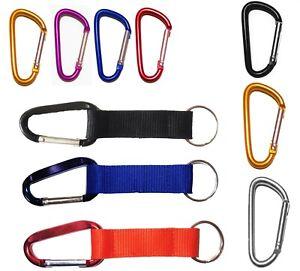 Karabinerhaken Schlüssel Karabiner Alu Schlüsselanhänger Farben