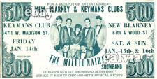 Original 1960s Irish showband flyer - The Millionaires - USA Tour 1966 - $500