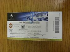 23/10/2013 Ticket: CSKA Moscow v Manchester City [Champions League] . Thanks for