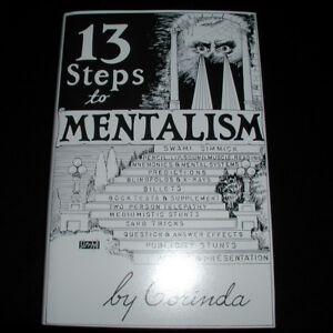 13 (Thirteen) Steps To Mentalism by Corinda Superb Mentalism Hardback Book!