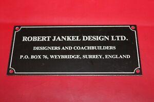 Robert Jankel Design Ltd Panther Westwinds Original Building/Office Plaque