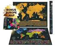 World Map to Scratch World Map with US States and Flags Travel and Adventure