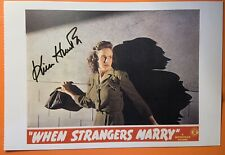 Kim Hunter When Strangers Marry hand signed postcard auto Planet of the Apes