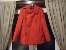 LADIES RED COAT FROM CHLOE WHITE AT AUTONOMY - SIZE 12