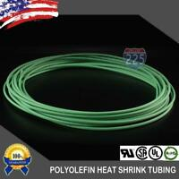 """100 FT. 100' Feet GREEN 1/16"""" 1.5mm Polyolefin 2:1 Heat Shrink Tubing Tube Cable"""