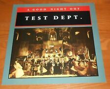 Test Dept. A Good Night Out Poster Flat Square Promo 12x12 RARE