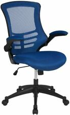 Flash Furniture Blue Mesh Mid-Back Desk Chair with Flip-Up Arms New