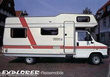 Prospekt Explorer Fiat Ducato Reisemobil 1987 Wohnmobil brochure motorhome
