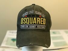 "Dsquared distressed Khaki Green Baseball Cap ""Killer On the Loose"" snapback Hat"