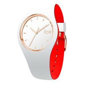 ICE Loulou White Rose-Gold - Women's Wristwatch with Silicon Strap 007230 Small