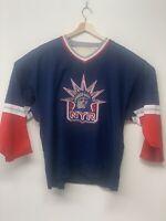 Vintage Starter NHL New York Rangers Statue Of Liberty Men's XXL Hockey Jersey