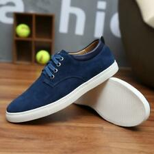 Men's Suede Shoes Casual skate Board Lace up Shoes All Large Size US7-12.5 c