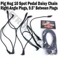 Pig Hog 10 Spot Plug Daisy Chain Power Cable Effect Pedal 9V One Right-Angle DC