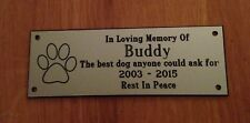 Brass effect Pet Memorial Bench Plaque (Dog Paw Print)