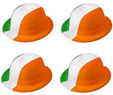 24 X IRISH FLAG COLOURS IRELAND ST PATRICKS DAY BOWLER HATS FANCY DRESS QR30