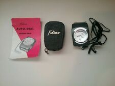Vintage Kalimar Auto Dial EVS Exposure Meter w/ Leather Case, Strap & Inst Book