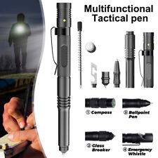 More details for self defense pen aviation aluminum tactical pen  writing lighting glass breaker