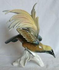 KARL ENS Oiseau de Paradis Porcelaine