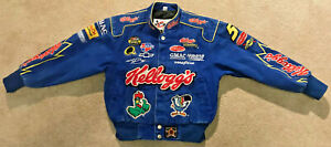 Vintage Terry Labonte NASCAR Kellogg's Racing Jacket Chase Authentics Kids M EUC
