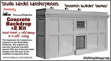 Concrete Backdrop Kit #2 Scale Model Masterpieces/YORKE Ent HOn3 Fine Craftsman