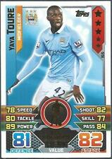 TOPPS MATCH ATTAX 2015-16- #155-MANCHESTER CITY-ALL ROUNDER-YAYA TOURE