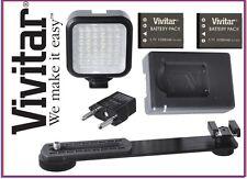 LED Light With 2 Battery & Charger For Samsung EV-NX1 NX1 NX300M NX3000 NX Mini