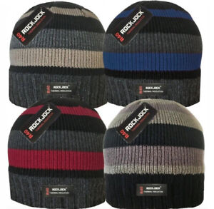 MEN'S R40 ADVANCED THERMAL INSULATED FULLY FLEECE LINED BEANIE HATS by ROCKJOCK