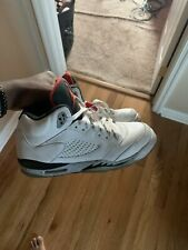 Air Jordan 5 Retro Men's Size 7 White Cement