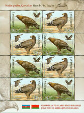 Azerbaijan 2016 MNH Eagles Joint Issue Belarus 8v M/S Birds Stamps