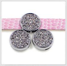 5PCS 8mm crystal round slide charms for bracelet / pet collar / wristbands SL501