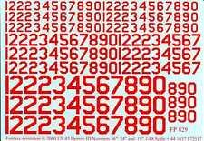 "Fantasy Printshop Decals 1/48 U.S. 45 DEGREE ID LETTERS 18"" 24"" & 36"" RED"