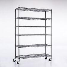 Adjustable 6 Tier 48''X 82''X18'' Wire Shelving Heavy Duty Rack Steel Shelf