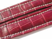Breitling Band P517 18mm Croco rot braun redbrown Strap für Faltschliesse 008-18