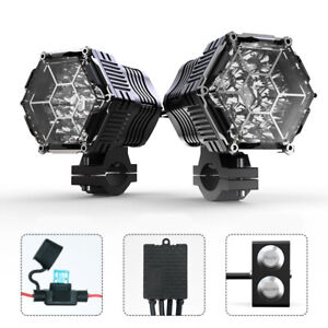 LED Work Light Headlight 18-Core Combined Beam Car And Motorcycle Fog Light 2PCS