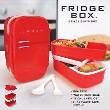 Red réfrigérateur box-rétro 5 piece bento boîte frigo en forme de panier repas récipient