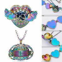 4 Photo Heart Angel Wings Album Box Pendant Memory Floating Locket Necklace Gift