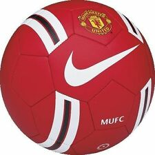 NIKE MANCHESTER UNITED PRESTIGE SOCCER BALL SIZE 5 Red/White.