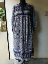 karni india made best new blue ganesh cotton printed women's best maxi dresses