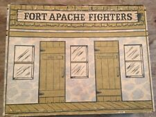 Années 1970 Marx Toys Johnny West Fort Apache Fighters Playset carton Carry Case